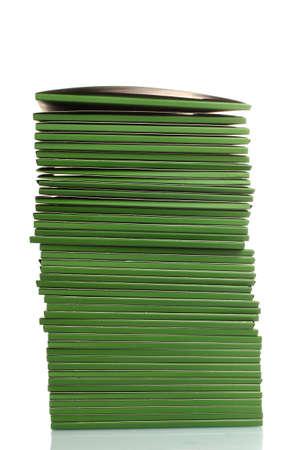Many green folders isolated on white Stock Photo - 11904288