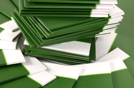 Many green folders closeup Stock Photo - 11905329