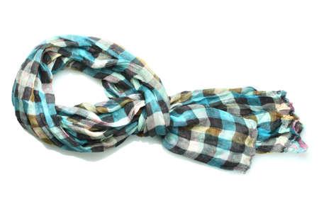 Beautiful scarf isolated on white photo