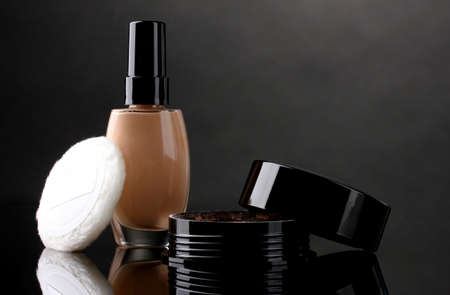cosmetics isolated on black Stock Photo - 12016283