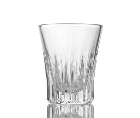 An empty wineglass isolated on white photo