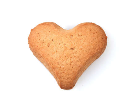 Heart-shaped cookie isolated on white Stock Photo - 12098067