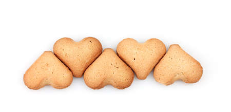Heart-shaped cookies isolated on white Stock Photo - 12098183