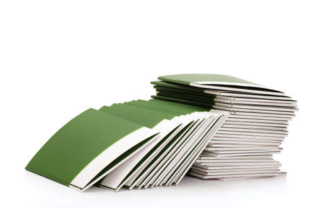 Many green folders isolated on white Stock Photo - 12102029
