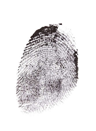 fingermark: Fingerprint isolated on white