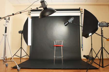 interieur van professionele fotostudio Stockfoto