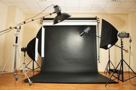 interior of professional photo studio photo