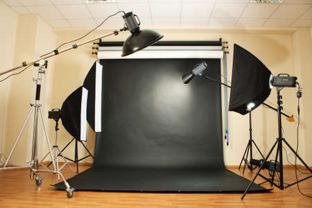 reflectors: interior of professional photo studio