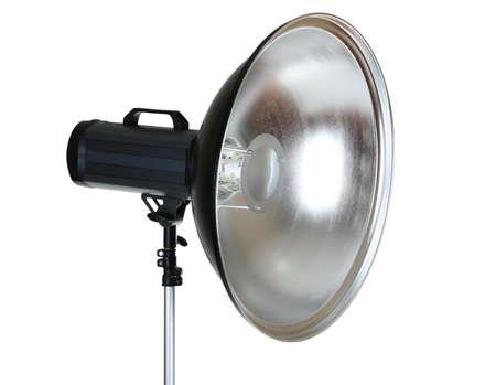 Professional studio flash isolated on white photo
