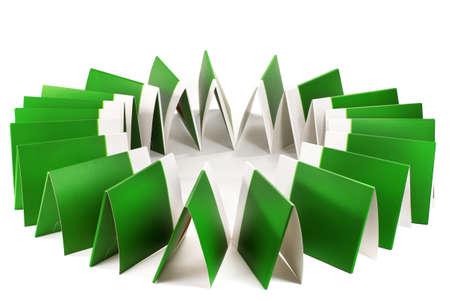 Many green folders isolated on white Stock Photo - 12236975