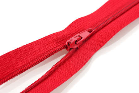Red zipper closeup Stock Photo - 12266905