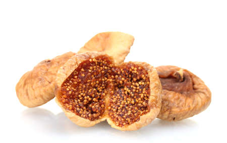 delicious dried figs isolated on white Stock Photo