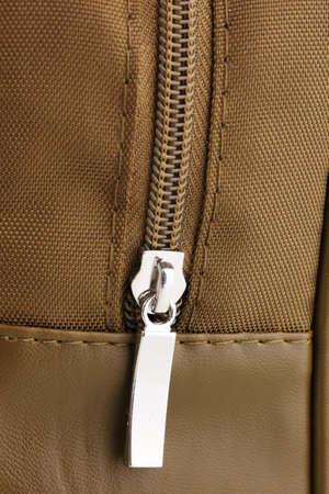 Bag's zipper close up Stock Photo - 12312574