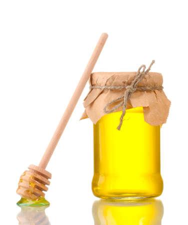 Honey isolated on white photo