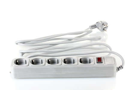 surge: Surge protector isolated on white Stock Photo