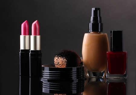 cosmetics isolated on black Stock Photo - 12436932