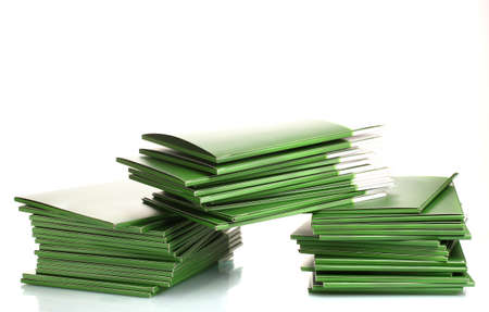 Many green folders isolated on white Stock Photo - 12435959