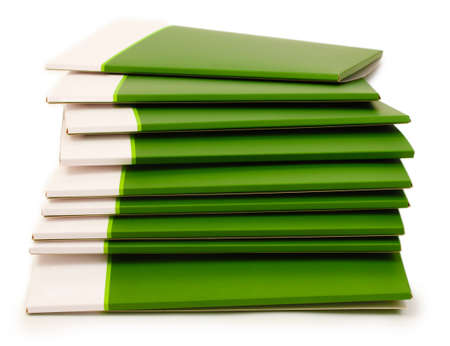 Many green folders isolated on white Stock Photo - 12436984