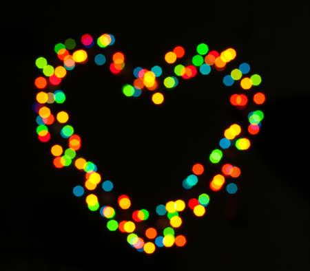 valentinas: bright heart bokeh background
