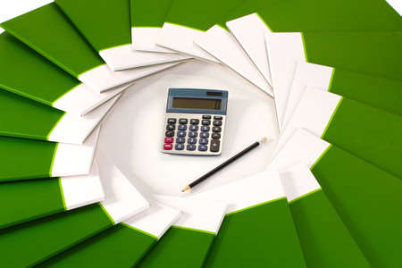 Many green folder closeup Stock Photo - 12436344