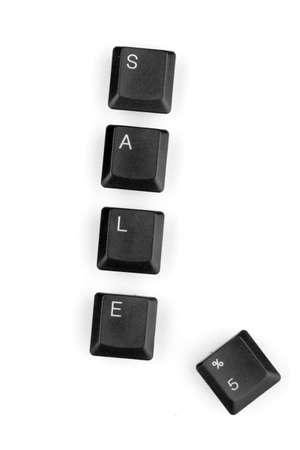 Keyboard keys saying sale isolated on white Stock Photo - 12544533