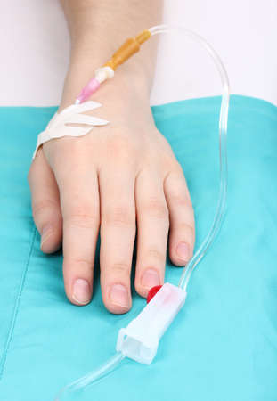 Female arm with infusion photo