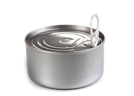 Tin can with pull ring isolated on white Stock Photo - 12553058