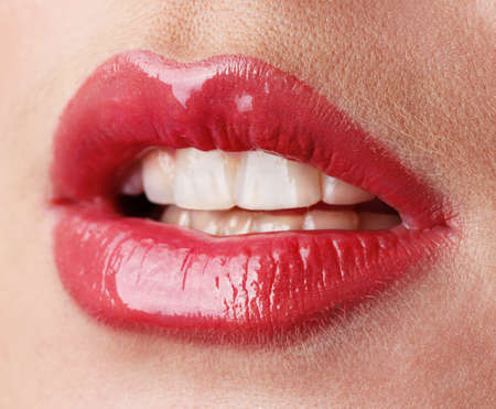 beautiful make up of gloss lips Stock Photo - 12648696