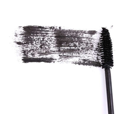 Black mascara brush stroke isolated on white Stock Photo - 12718107