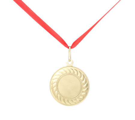 Gold medal isolated on white Stock Photo - 12716208