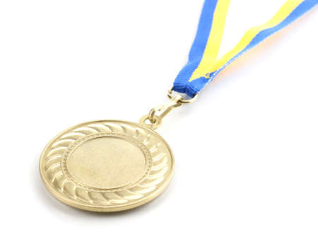 greatest: Gold medal isolated on white