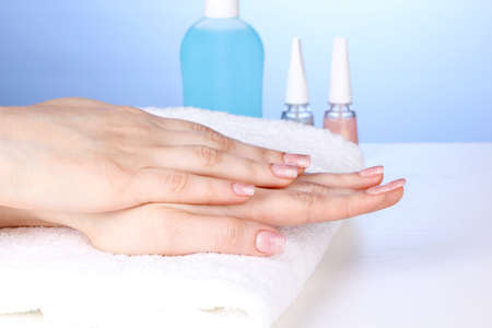 Manicure process in salon Stock Photo - 12800576