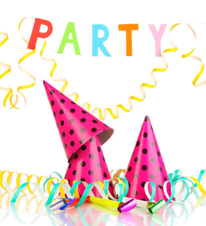 noisemaker: Party items isolated on white