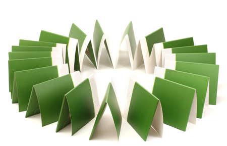 Many green folders isolated on white Stock Photo - 12821515