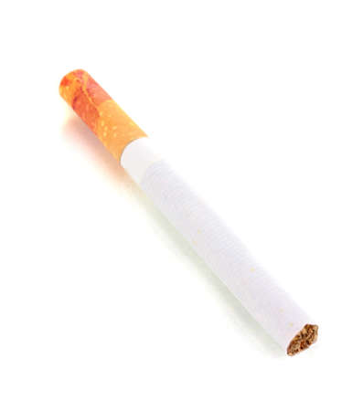 Cigarette butt isolateed on white Stock Photo - 12822574