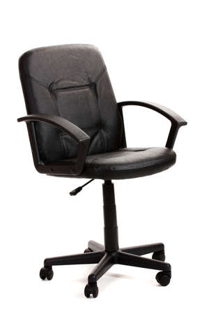 black office chair isolated on white Stock Photo - 12980218