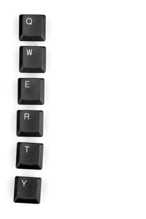 Keyboard keys saying qwerty isolated on white Stock Photo - 12980270