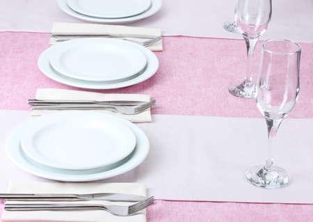 elegant holiday table setting photo