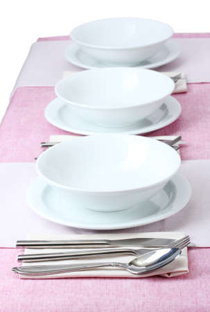 elegant holiday table setting Stock Photo - 12980096