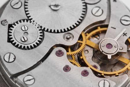 Clock mechanism close-up Stock Photo - 12979935