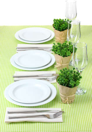 elegant holiday table setting photo