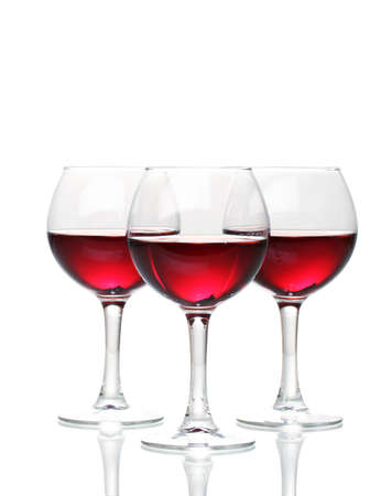 Wineglasses isolated on white photo