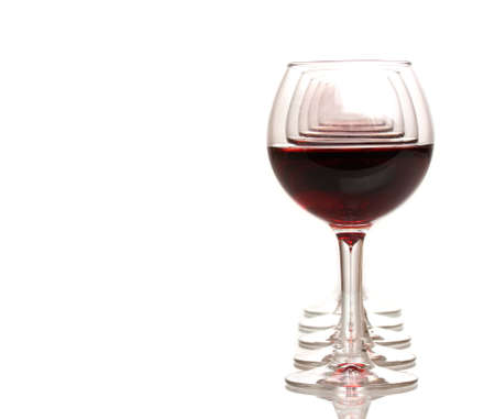 Wineglasses isolated on white Stock Photo - 12979822