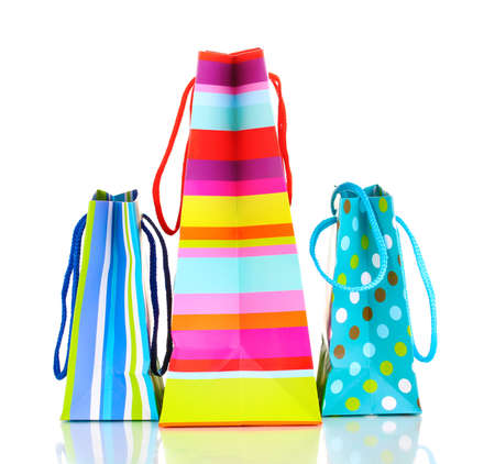 Colorful gift bags isolated on white Stock Photo - 13024955