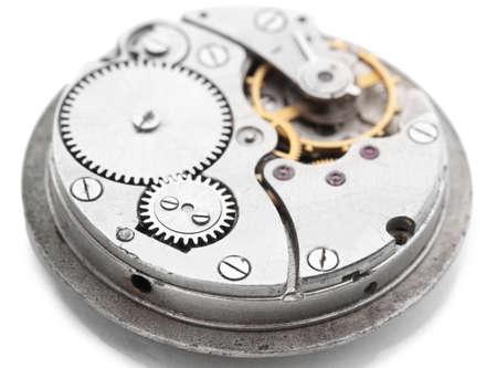 Clock mechanism isolated on white Stock Photo - 13061723