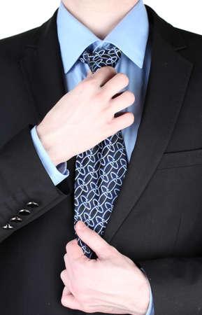 lazo negro: empresario de la correcci�n de un empate de cerca