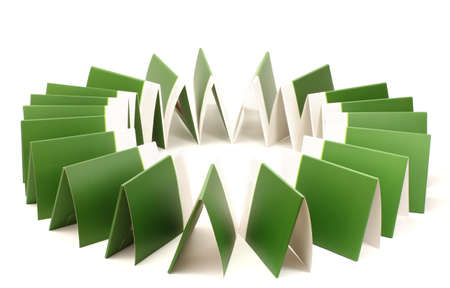 Many green folders isolated on white Stock Photo - 13128858