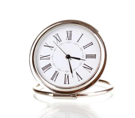 Clock isolated on white photo