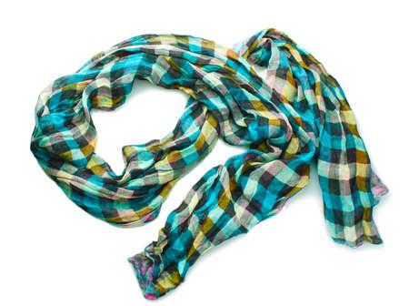 Beautiful scarf isolated on white Stock Photo - 13163085