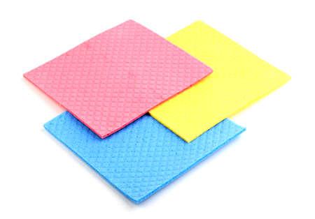 celulosa: Esponjas de celulosa aislado en blanco